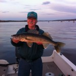 "Dave caught this nice 27.5"" walleye."