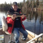 Steve with an early spring Lake Vermilion walleye