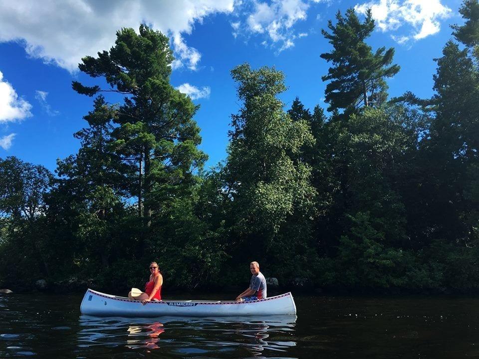 canoe on Lake Vermilion