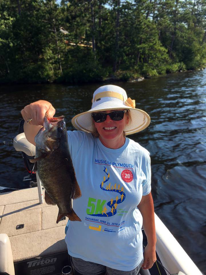 Tammy Shaed with Bass on Lake Vermilion
