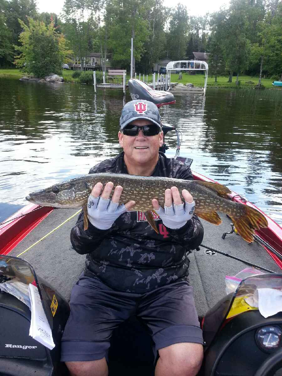 man with Lake Vermilion northern pike