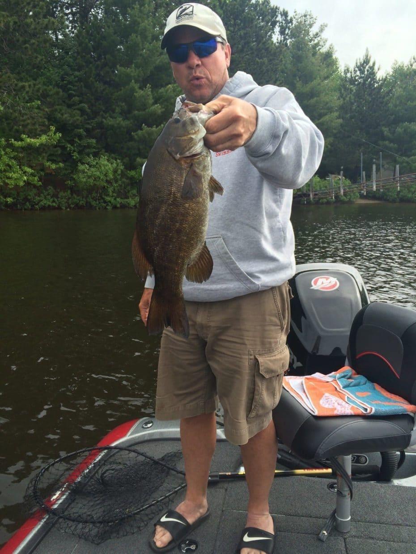 Jim Todd holding Lake Vermilion bass