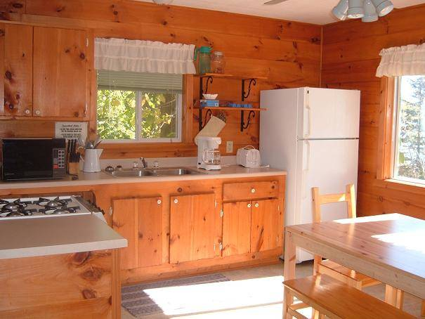 Vermilion, MN rental cabin kitchen