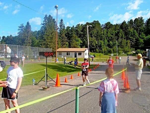 Lake Vermilion race finish line