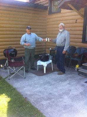 fish fry at the Lake Vermilion rental cabin