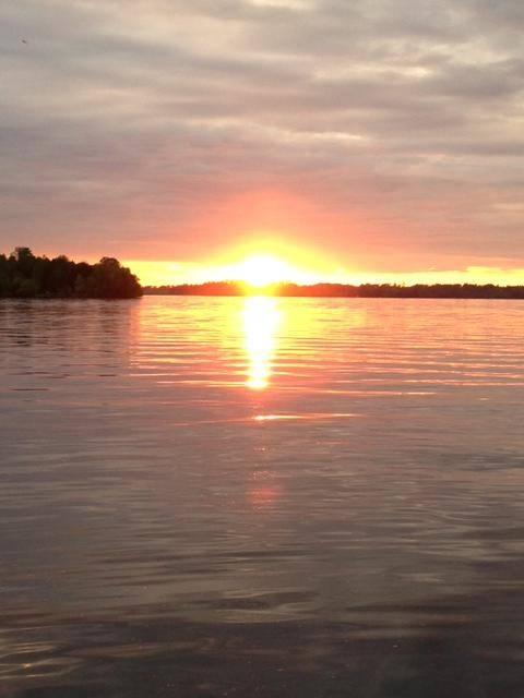 Lake Vermilion sunset Everett Bay Lodge