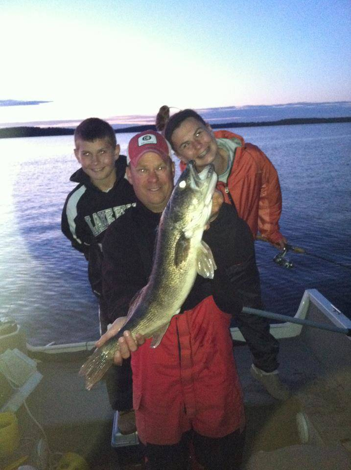 Raleighs with Lake Vermilion walleye