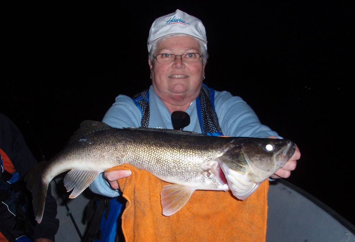 Sally with Lake Vermilion walleye