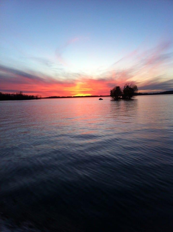 Lake Vermilion sunset