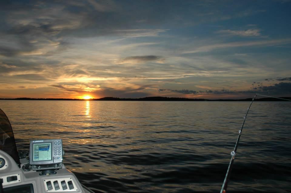 Lake Vermilion sunset with fishing pole