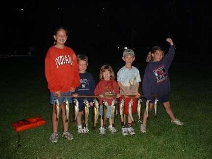kids with Lake Vermilion walleyes