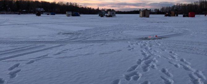 December ice fishing Lake Vermilion