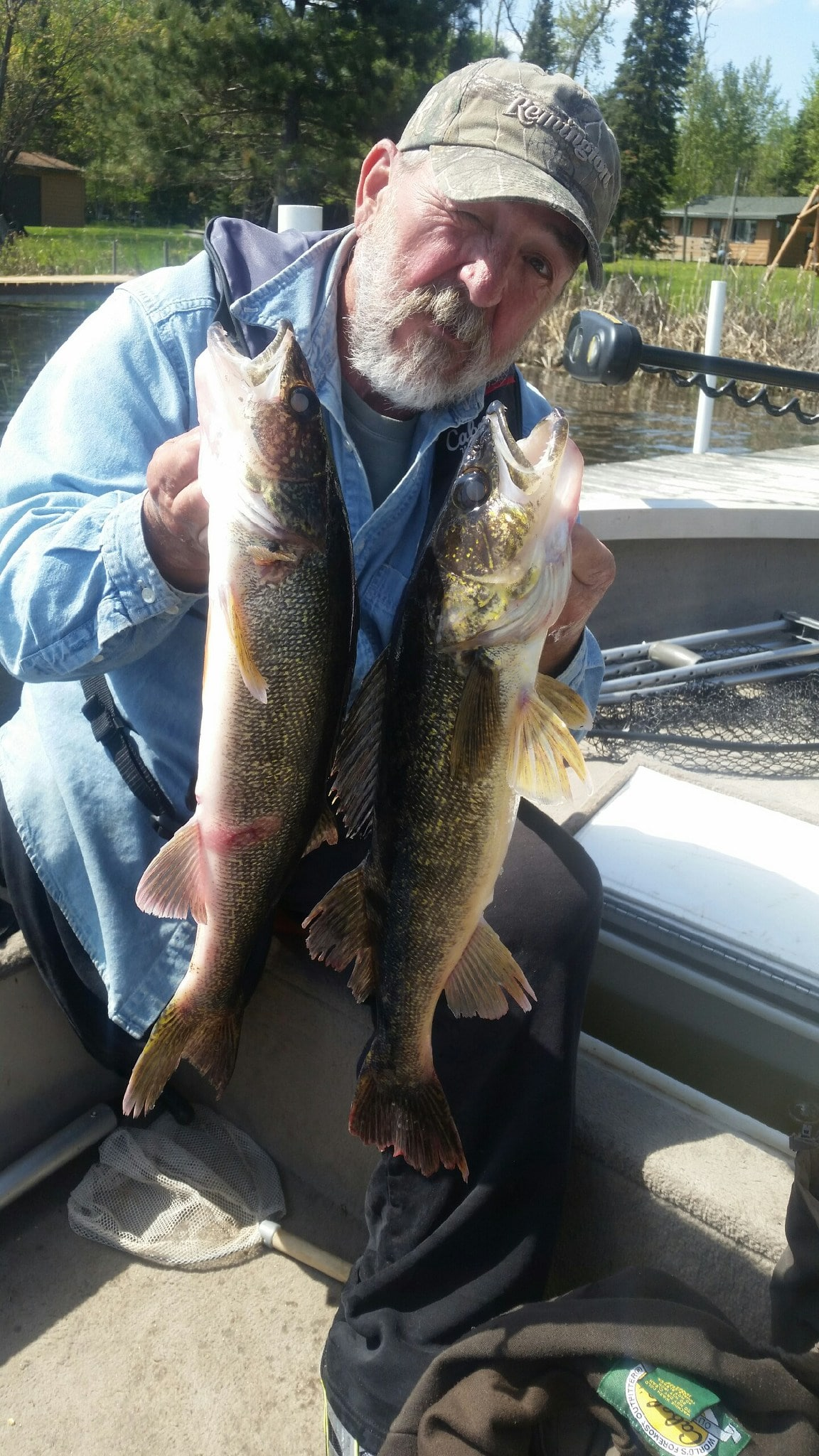Paul with two walleyes