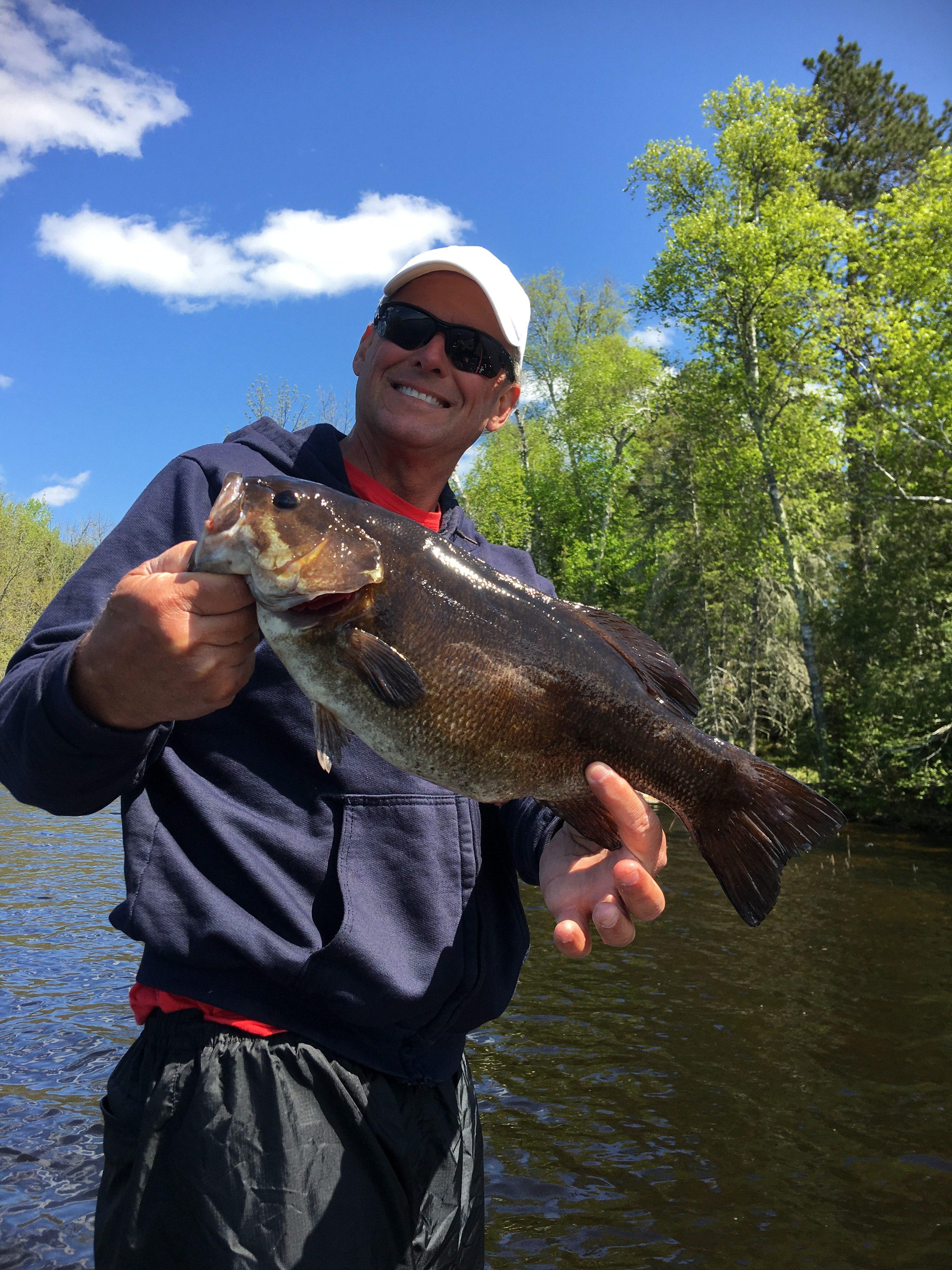 Man with Lake Vermilion bass