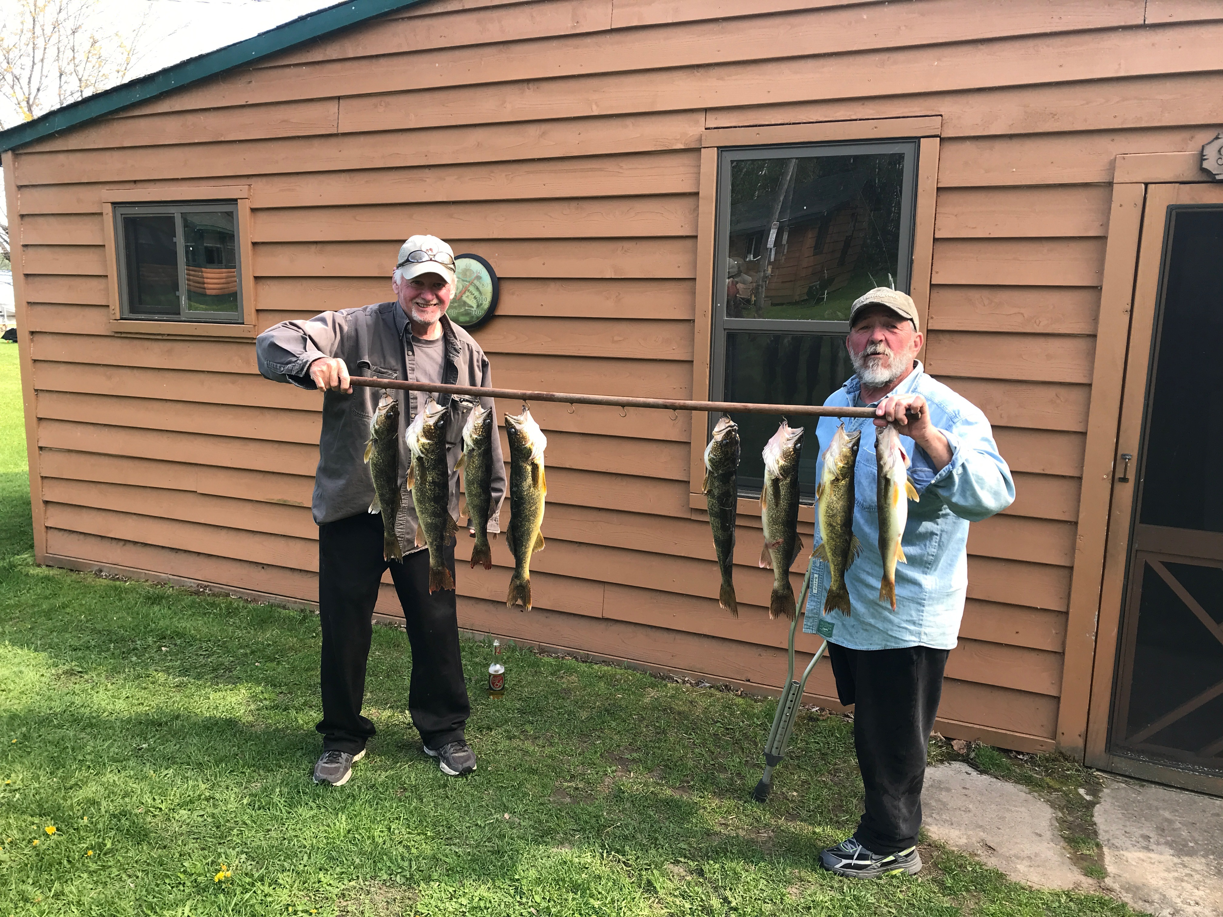 Two men with walleyes caught on Lake Vermilion