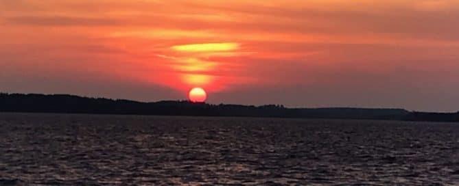 Lake Vermilion orange sunset