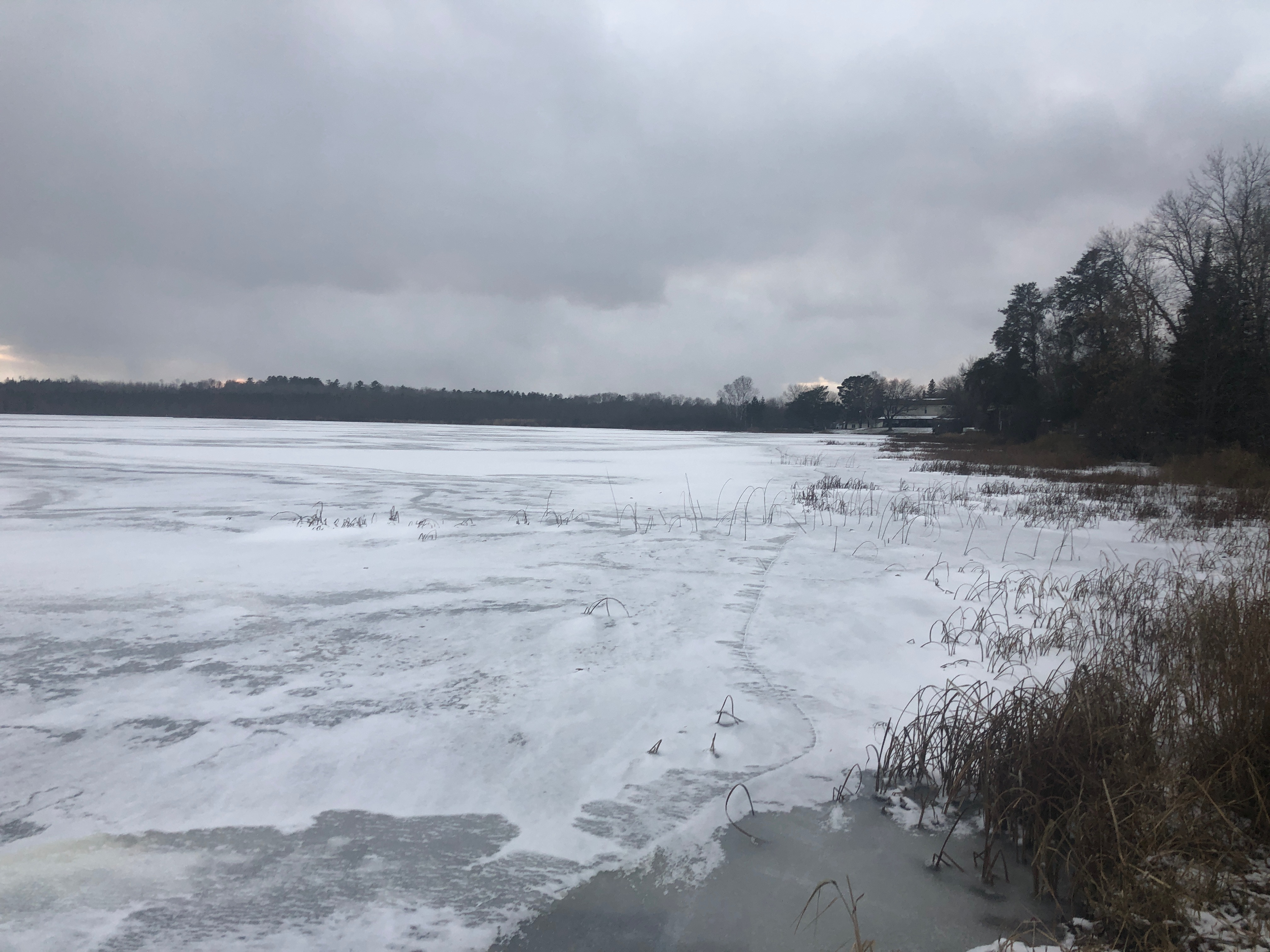 Ice cover on Everett Bay on Lake Vermilion
